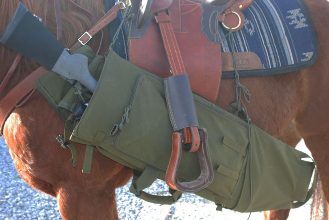 ...BLACKHAWK!®'s Long Gun Pack Mat with HawkTex™, it's a rifle scabbard!