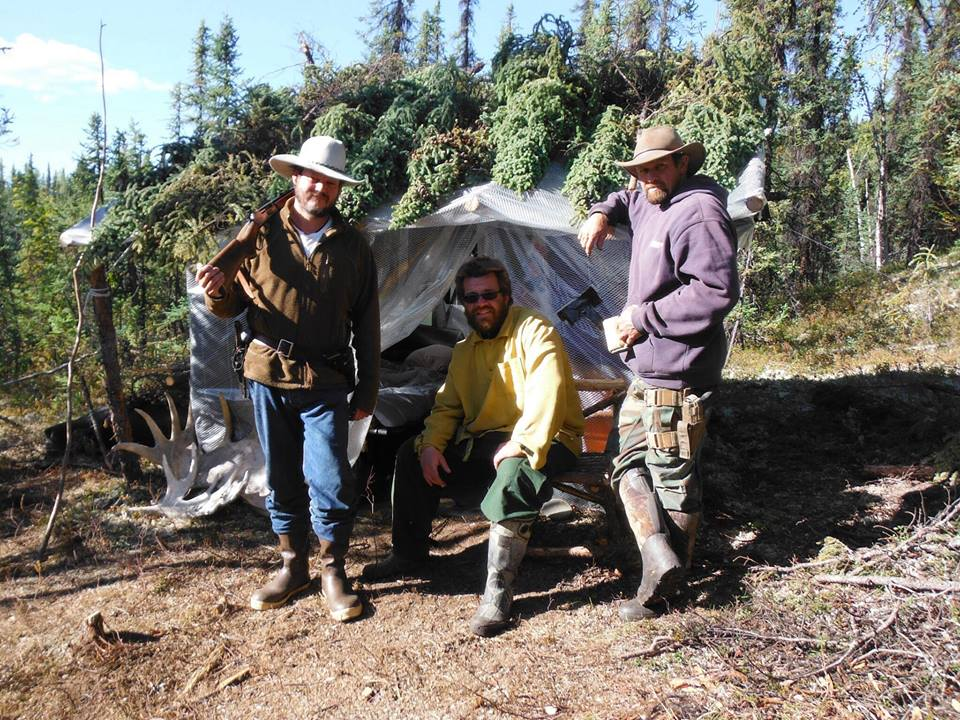 L-R: Cork Graham, Joel Holder, Tom Zarilli in the Alaska Interior on a gold mining fiasco
